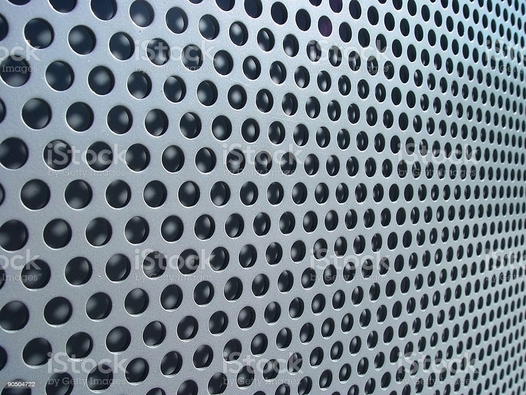 high tech perforated steel stock photo