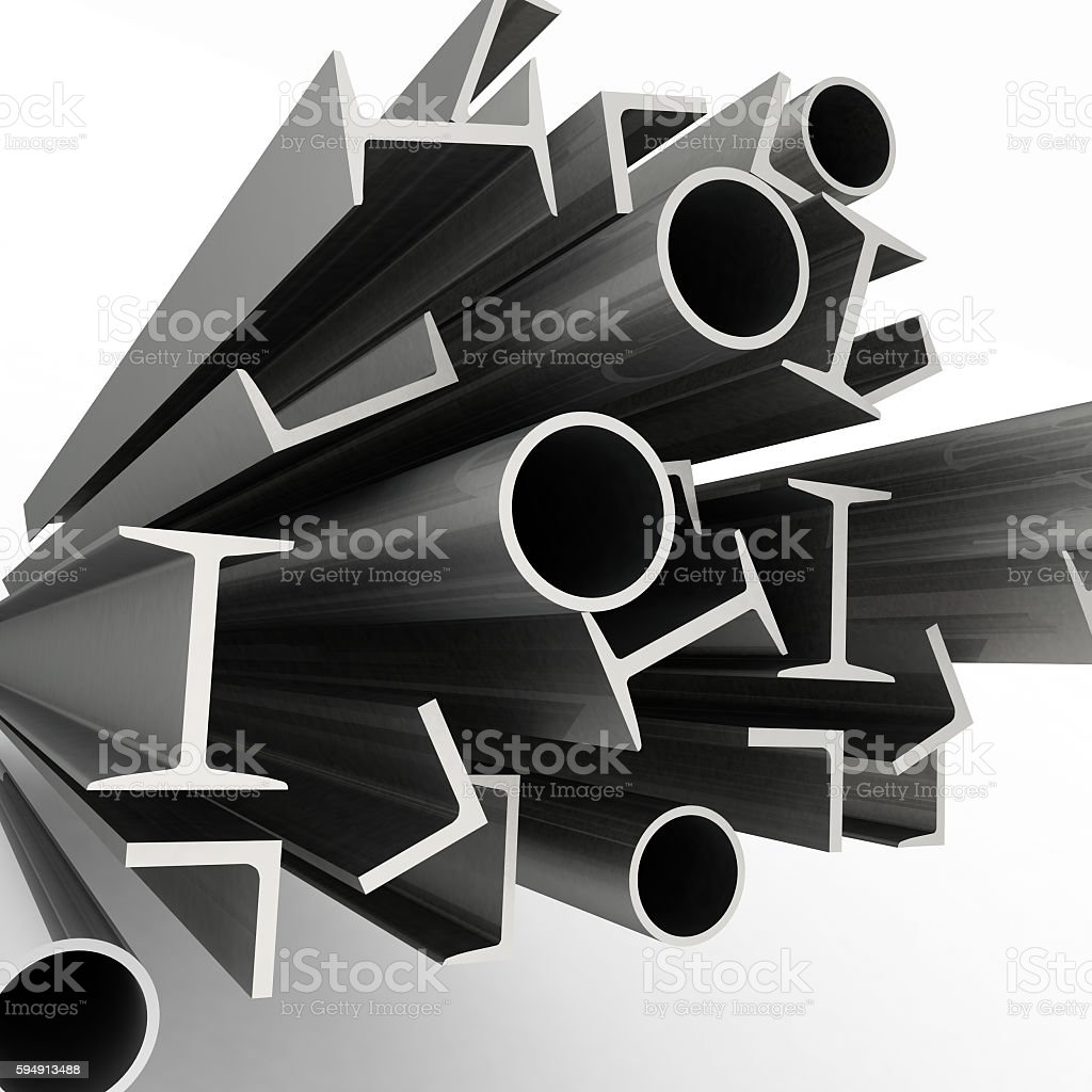 High technology background - profiles stock photo