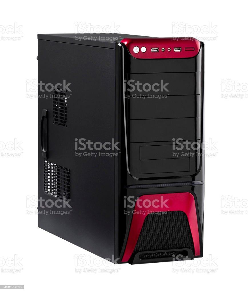 High technology desktop computer isolated stock photo