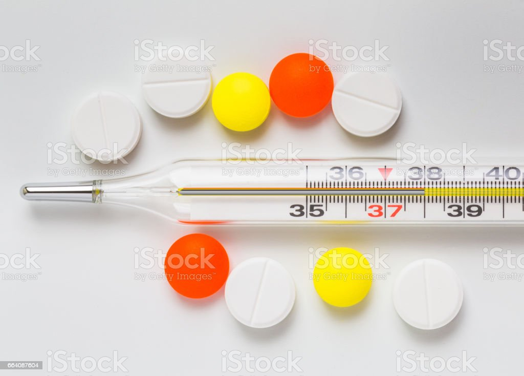 high temperature treatment using the tablets stock photo