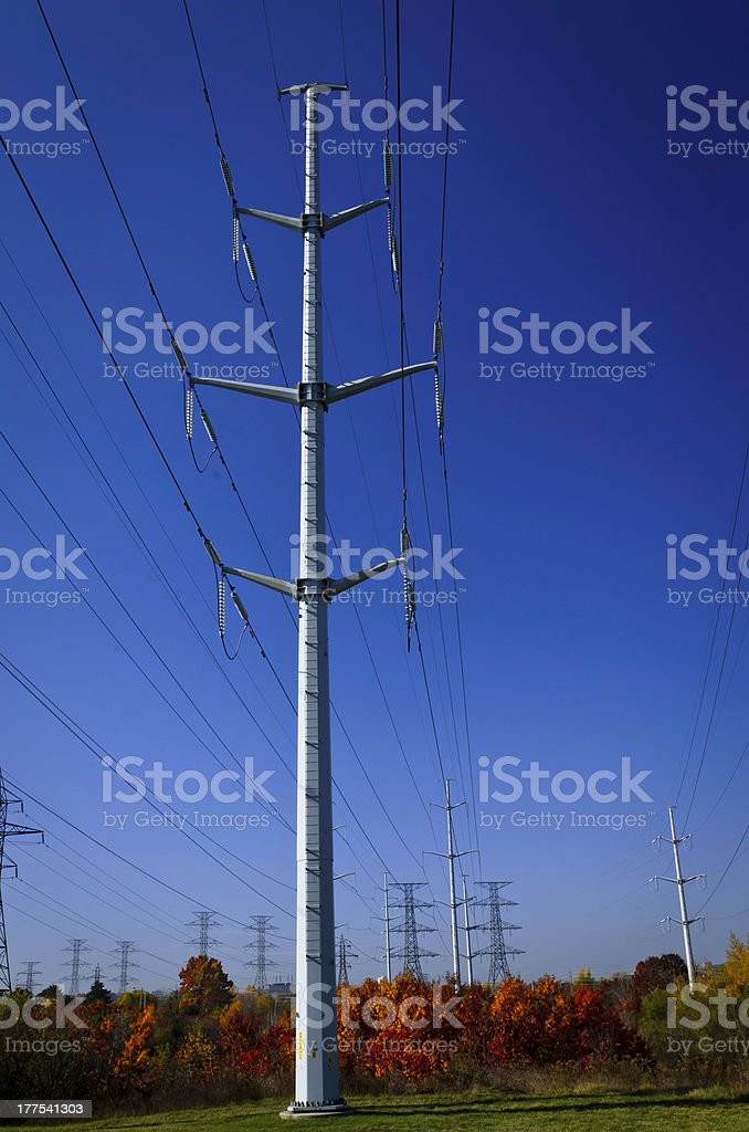 High tension power line royalty-free stock photo