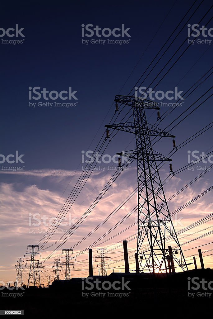 High tension power royalty-free stock photo