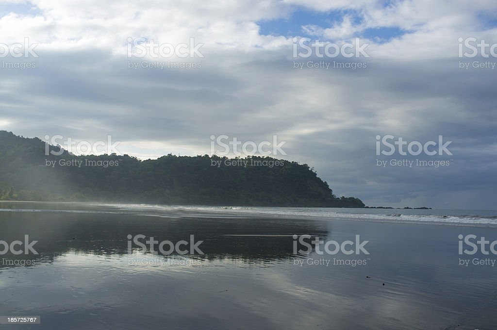 High tide on Jaco royalty-free stock photo