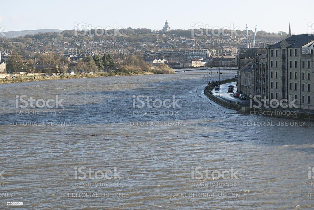 High Tide River Lune Lancaster stock photo