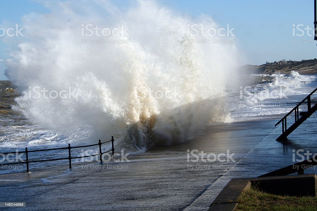 High tide, winter storm royalty-free stock photo