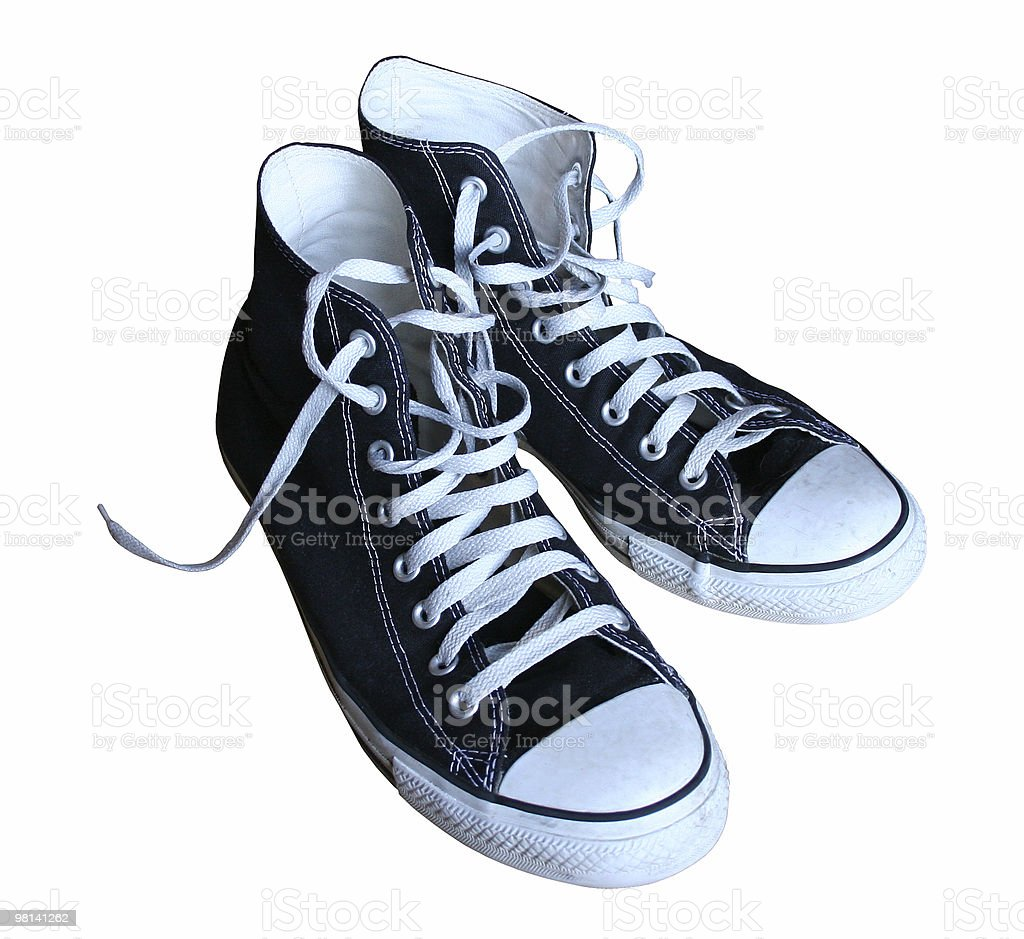 High Top Sneakers royalty-free stock photo