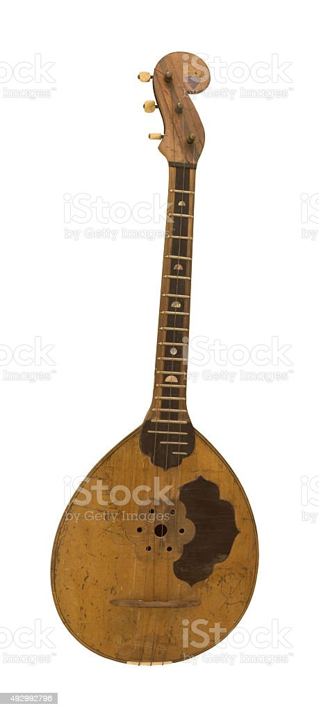 High treble domra. String plucked musical instrument stock photo