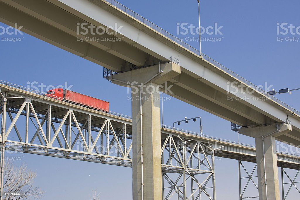 High Up Highway royalty-free stock photo
