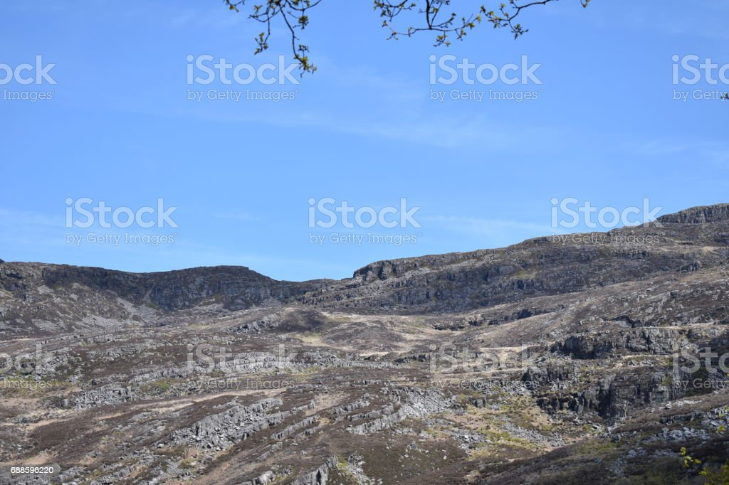 High up in the mountains stock photo