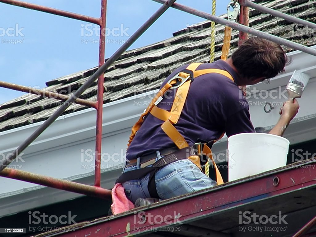 High Up Painting stock photo