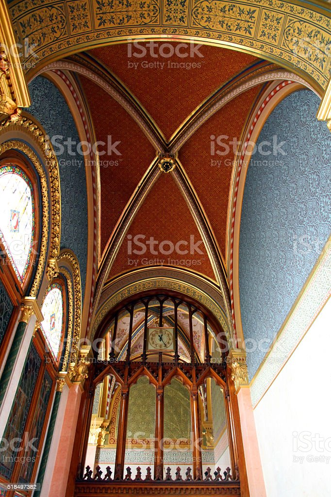 High Vaulted Red stock photo