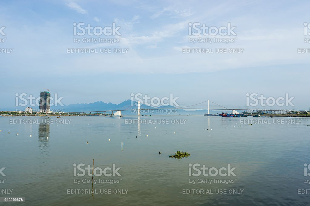 High view of Da Nang city inVietnam stock photo