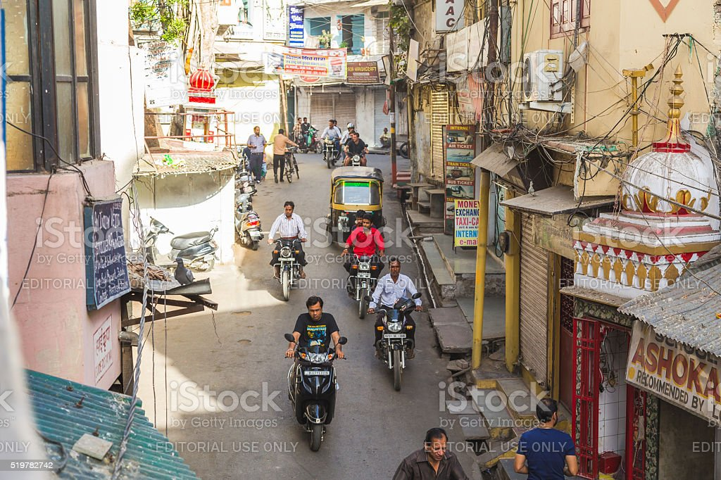 High View of Streets of India stock photo