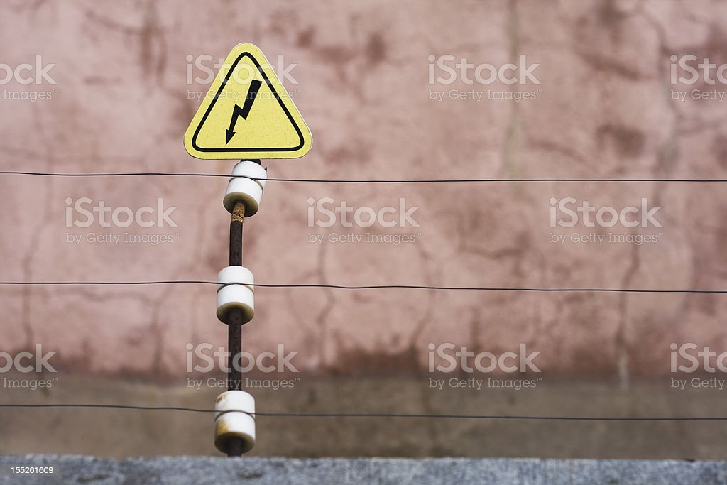 High voiltage barrier royalty-free stock photo