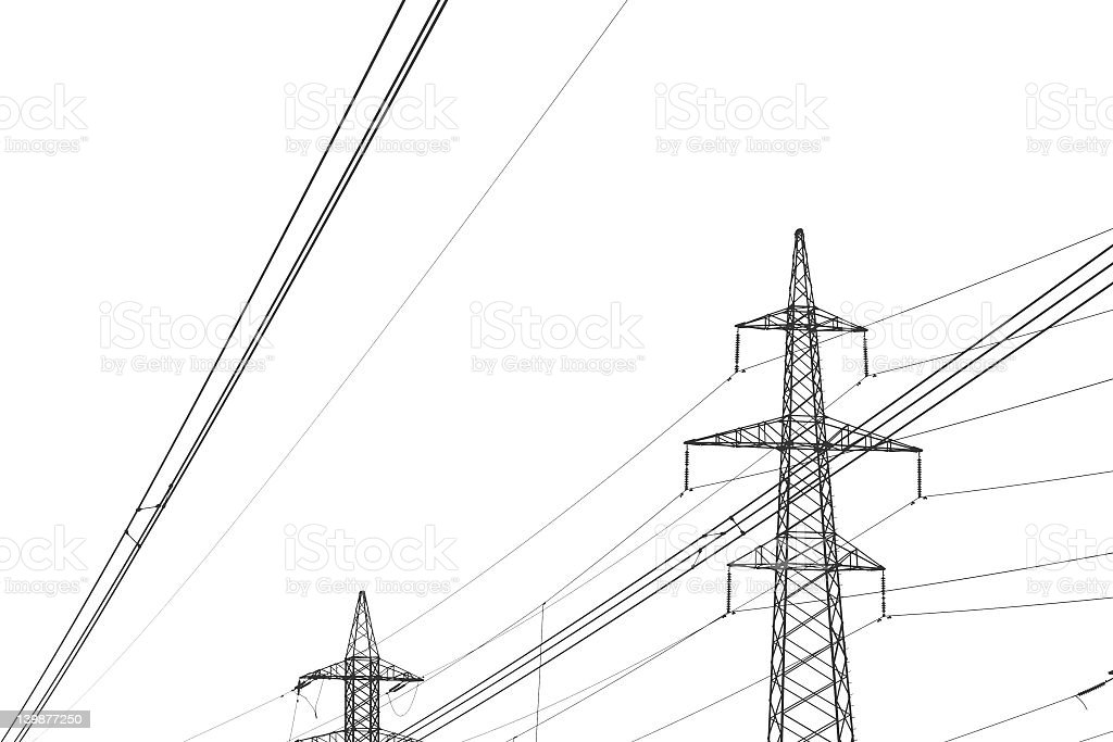 High voltage B/W royalty-free stock photo