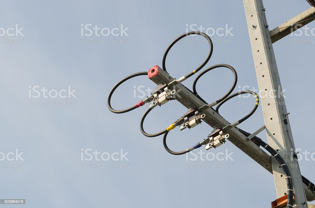 High voltage electrical. stock photo