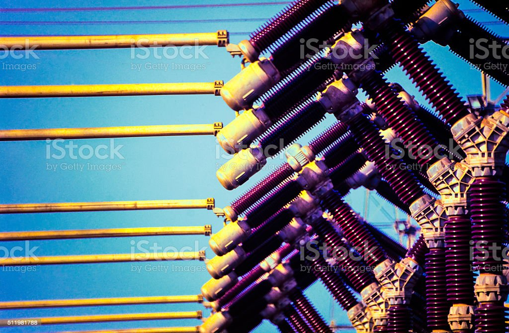 High Voltage Generation Industry stock photo