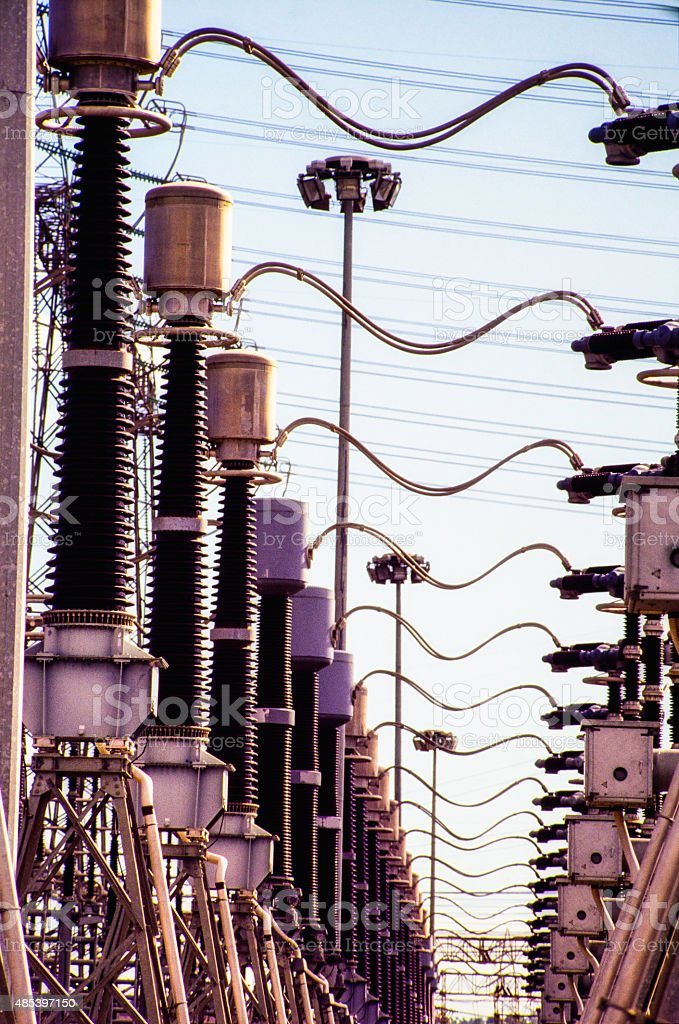High Voltage Generation Industry - Sub station stock photo