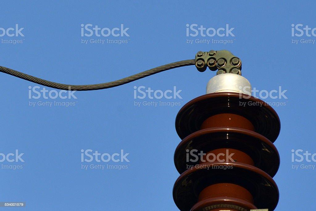 High Voltage Insulator stock photo