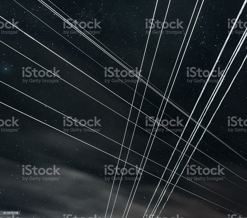 High Voltage Intersection stock photo