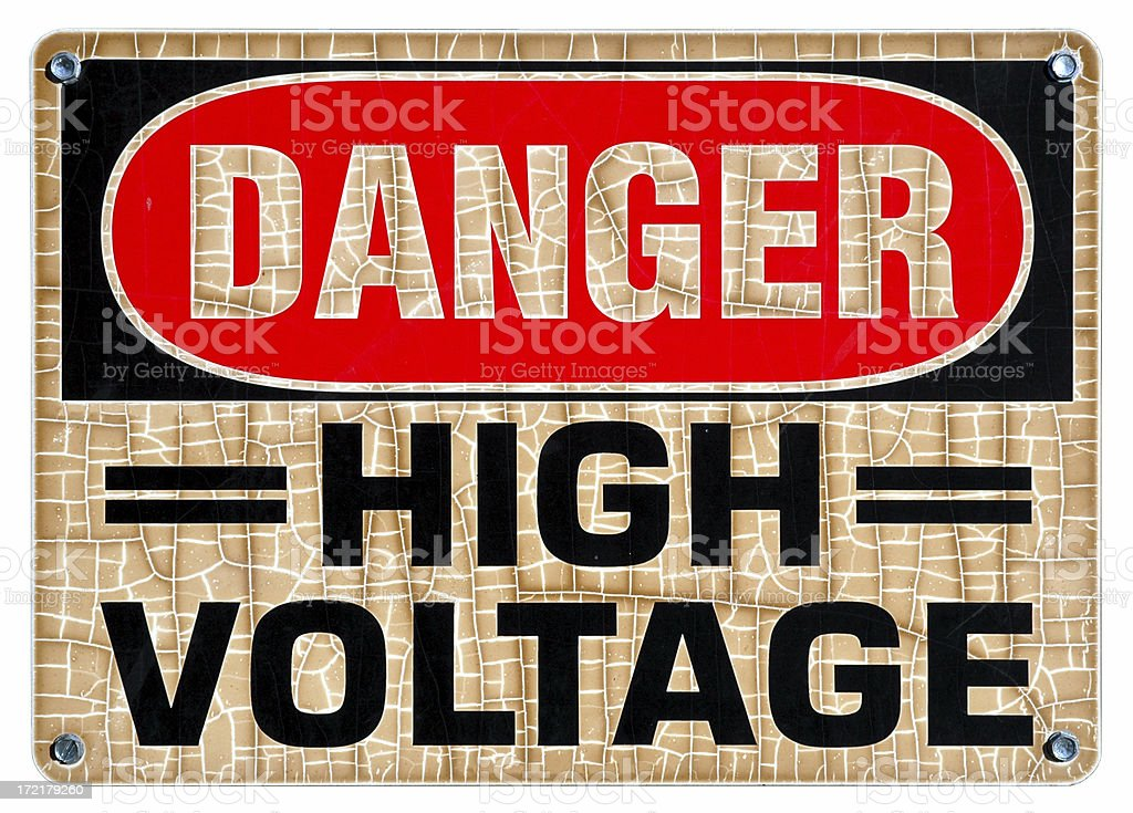 High Voltage Isolated royalty-free stock photo