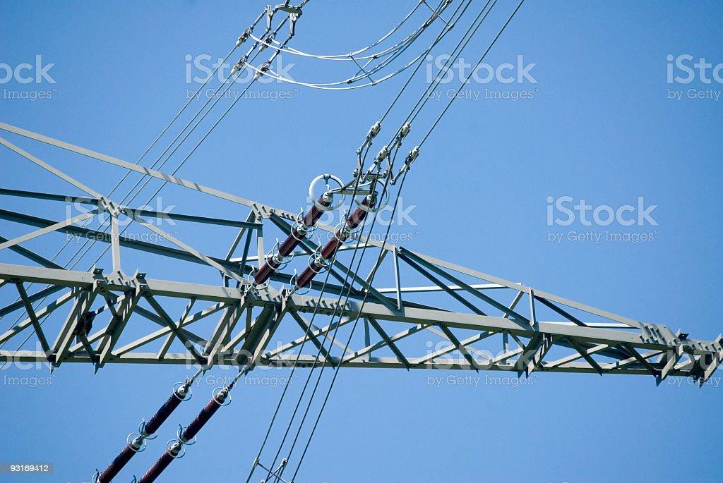 High Voltage Line stock photo
