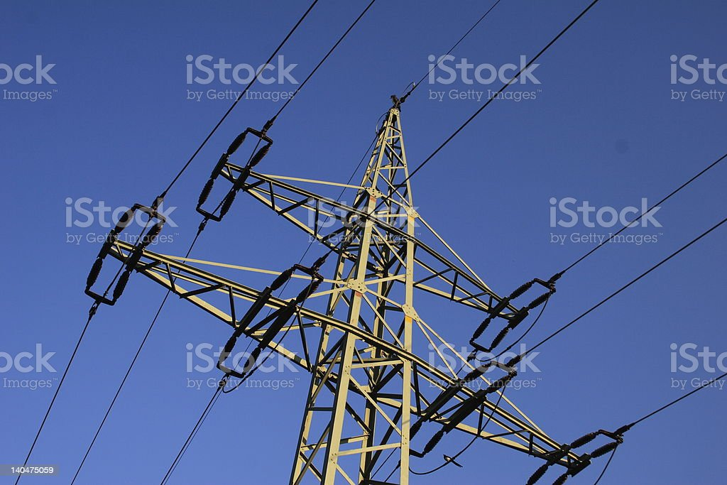 high voltage mast royalty-free stock photo