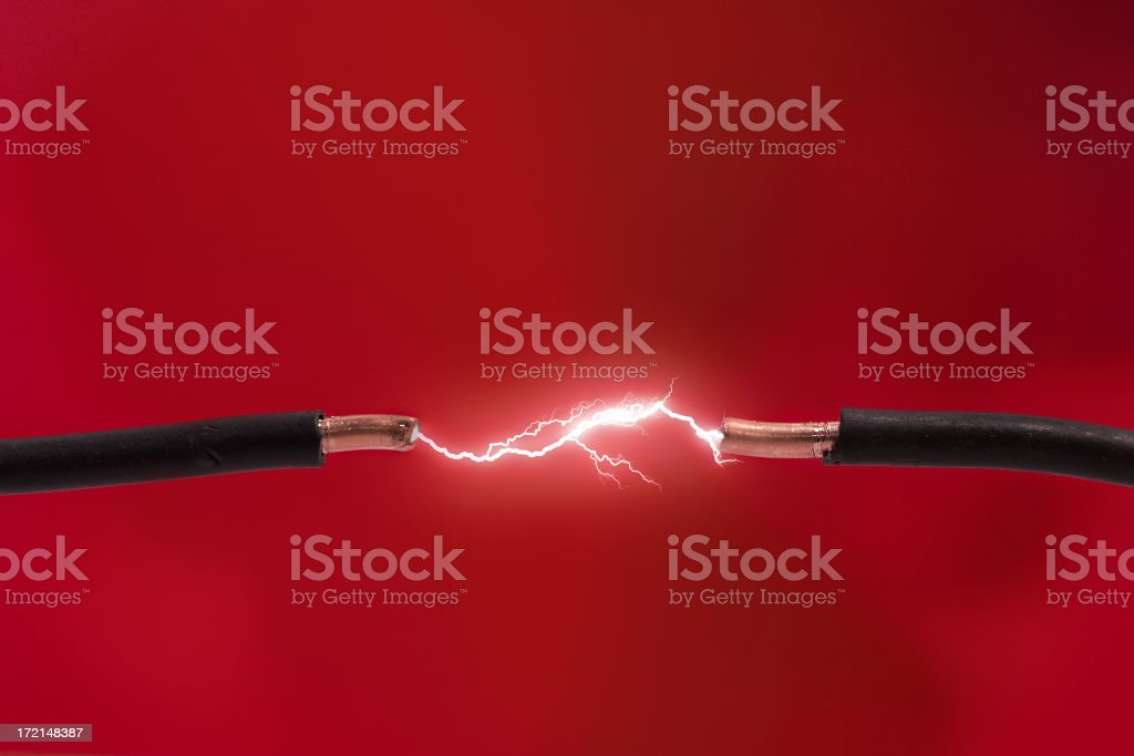 High voltage stock photo