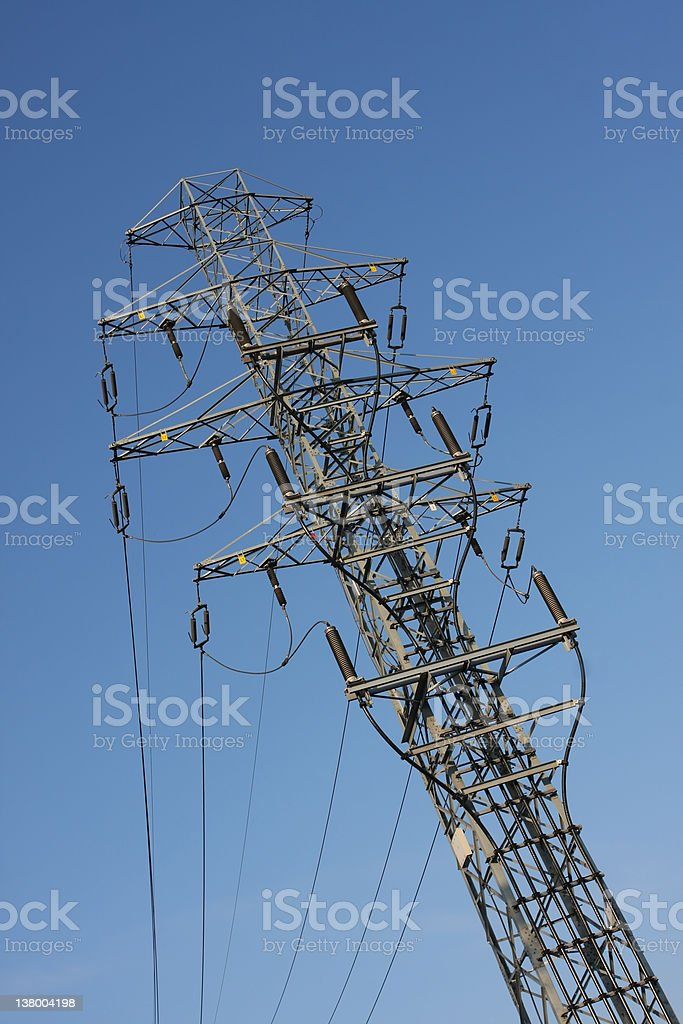 High voltage pillar royalty-free stock photo