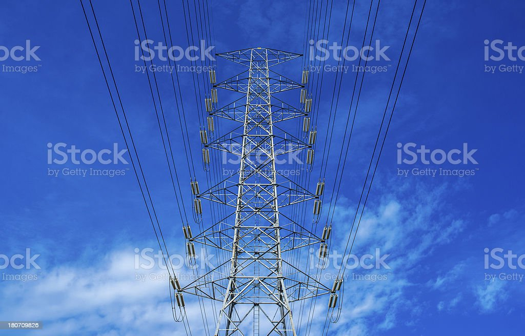 high voltage post royalty-free stock photo