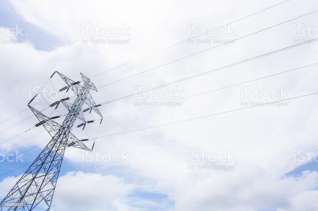 High voltage post stock photo