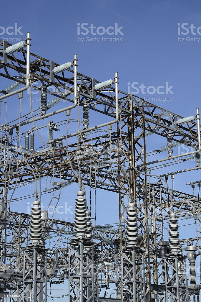 High voltage power station royalty-free stock photo