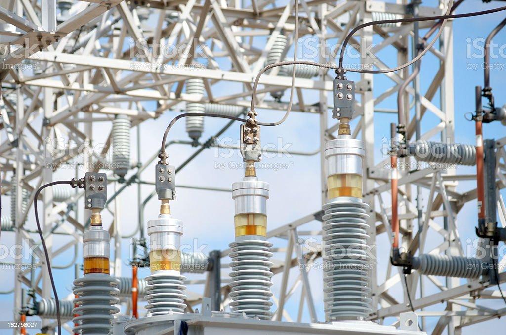 High voltage power supply. stock photo