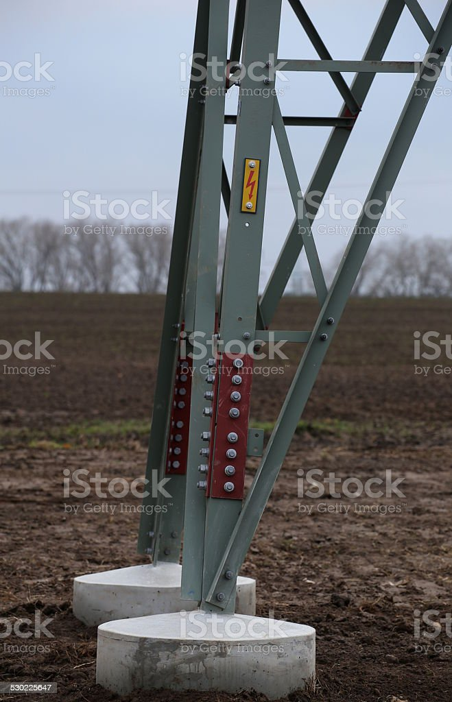 High Voltage Sign On Frame stock photo