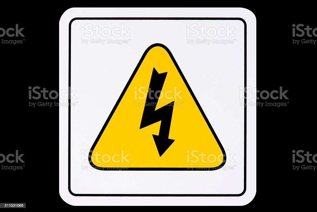 High Voltage Sign stock photo