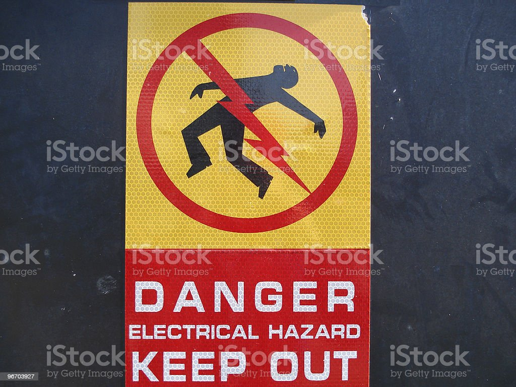 High voltage sign royalty-free stock photo