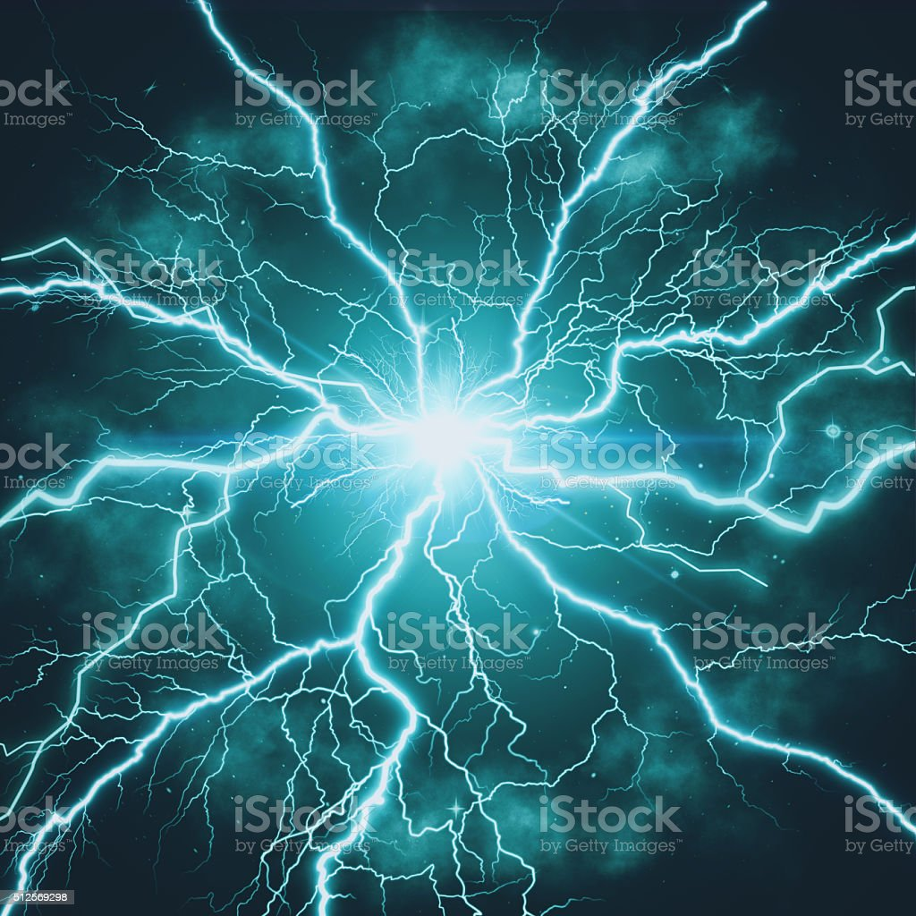 High voltage strike stock photo