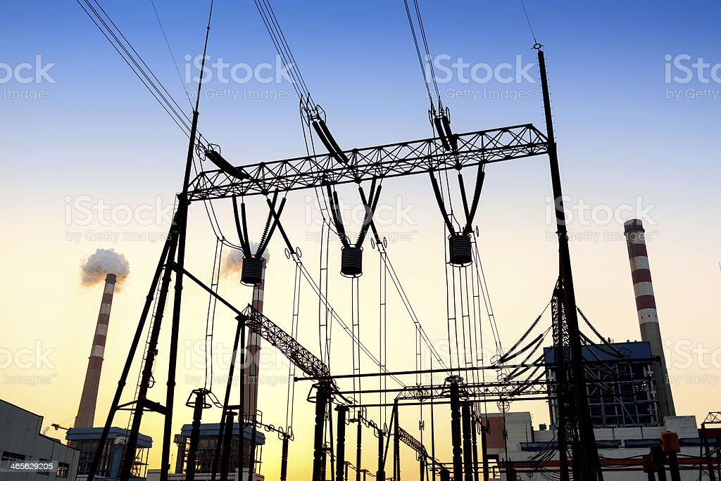 High voltage switchgear equipment stock photo