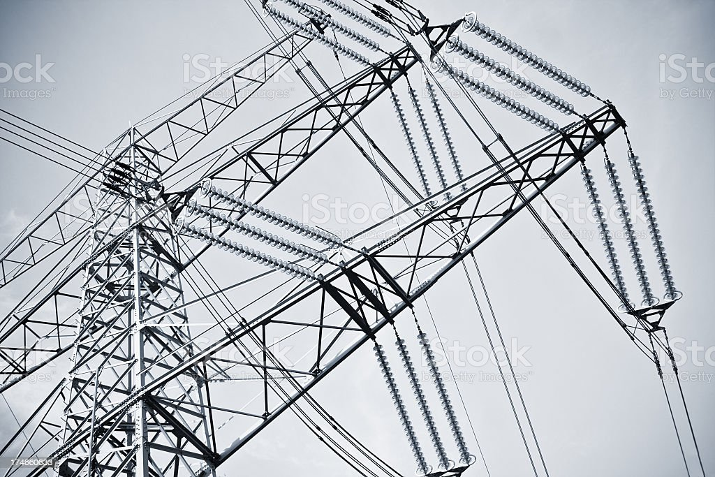 High voltage Tower - crop royalty-free stock photo