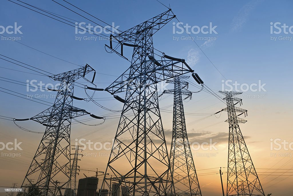High voltage tower Electricity Pylon royalty-free stock photo