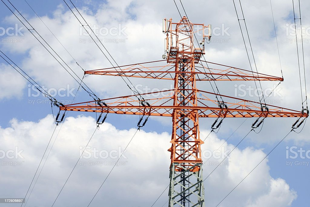 high voltage tower II stock photo