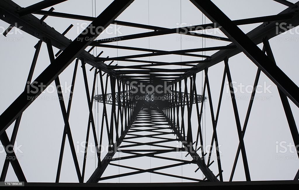 High Voltage Tower royalty-free stock photo