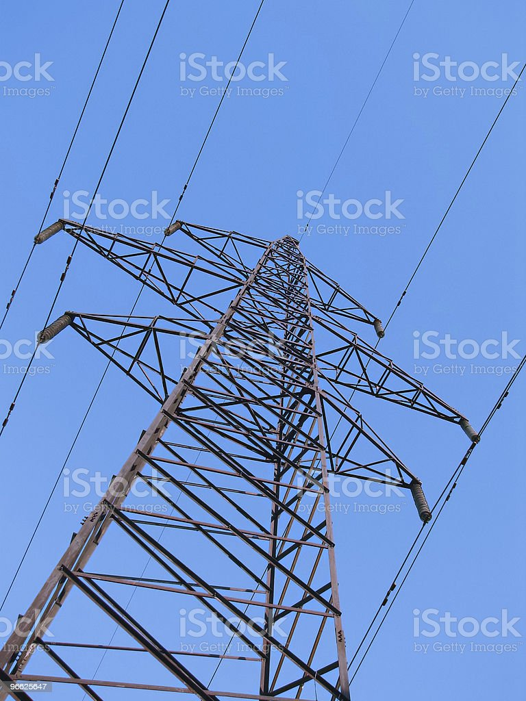 High voltage tower. royalty-free stock photo