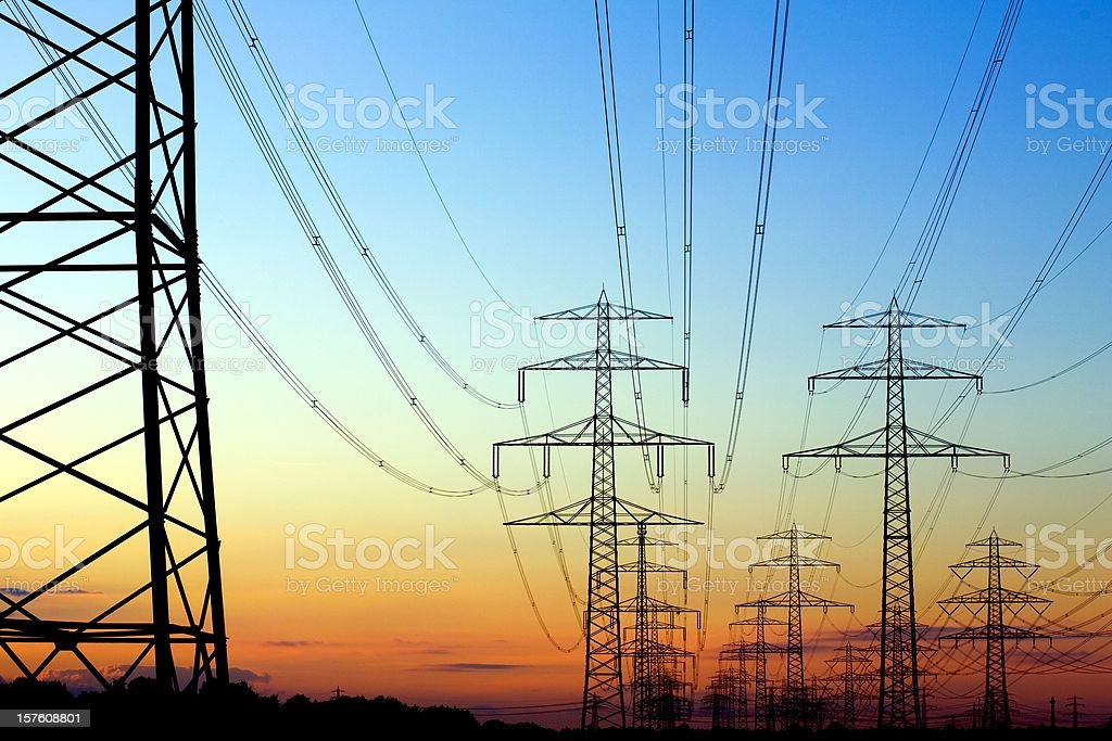 High Voltage Transmission Tower stock photo