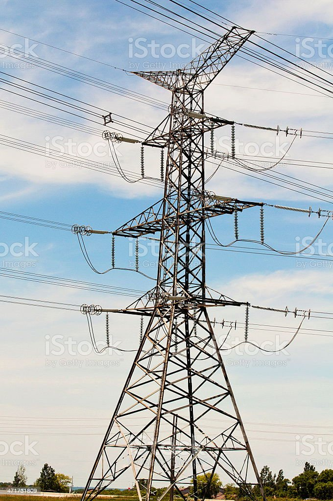 High Voltage Transmission Tower royalty-free stock photo