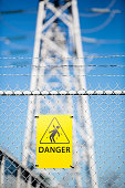 High Voltage warning, Danger sign.