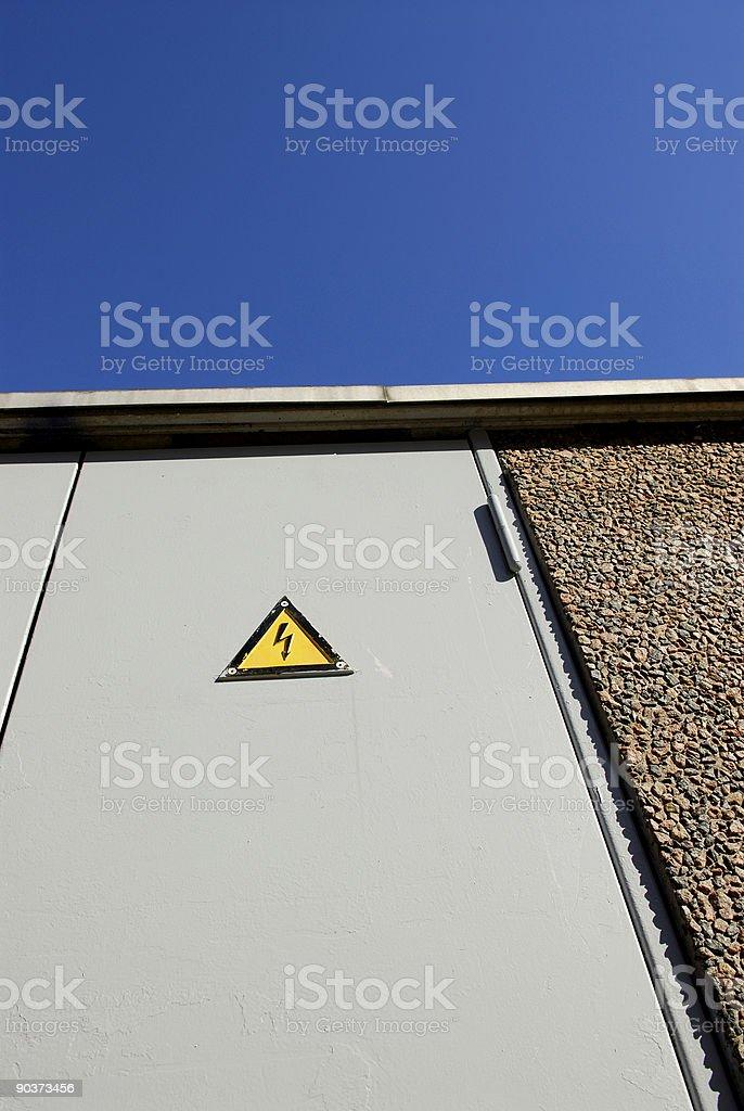 High voltage warning stock photo