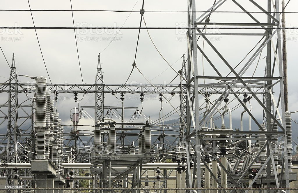 High VoltageTransformer Electrical Substation royalty-free stock photo