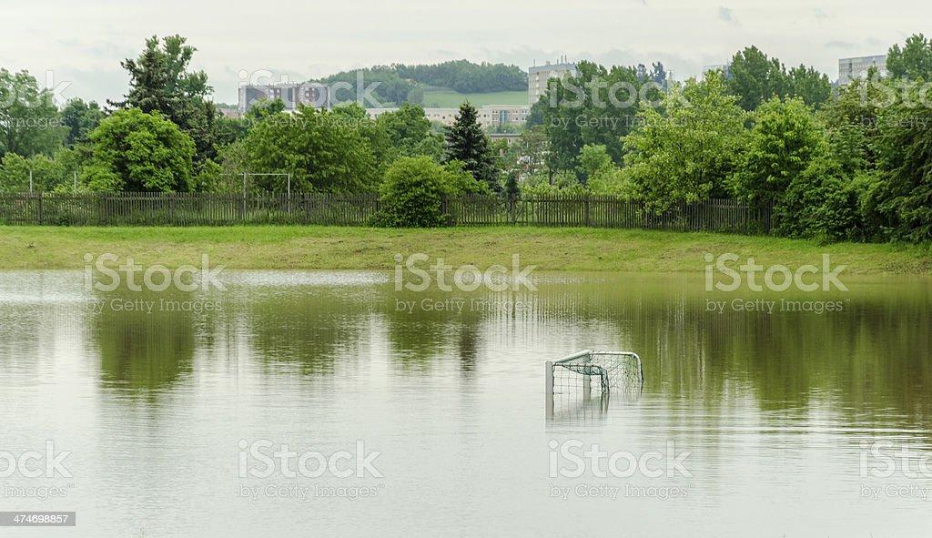 high water '100-year flood' June 2013 - Gera, Germany stock photo