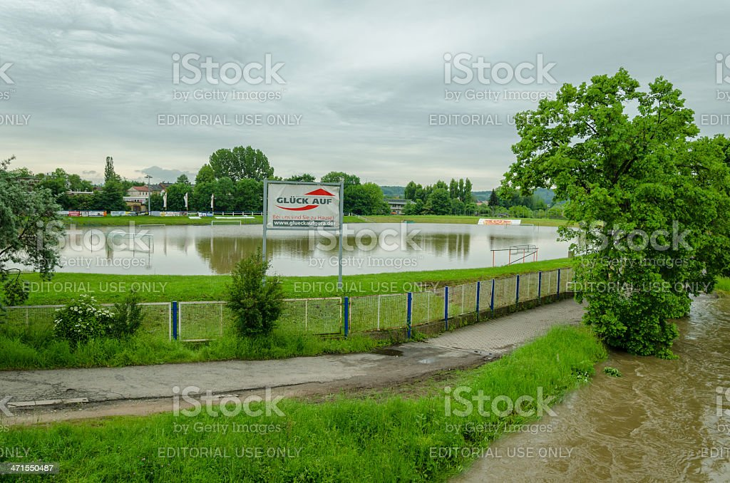 high water 'flood of the century' June 2013 Gera, Germany stock photo